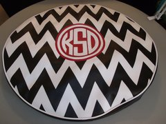 Chevron Monogram Spare Tire Cover CB KSD