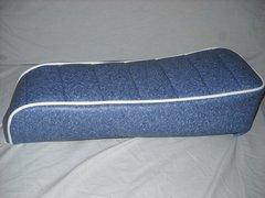 Mini Bike Seat Upholstery Tuck N Roll Granite Blue With White