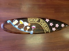 TIKI SIGN WOOD SURFBOARD GROUP THERAPY