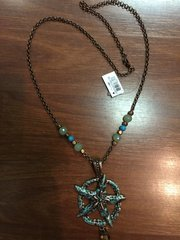 ISLAND NECKLACE by GANZ COPPER AND TURQUOISE STARFISH