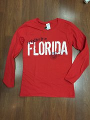 ISLAND TEE RED I'D RATHER BE IN FLORIDA LONG SLEEVE