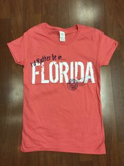 ISLAND TEE PEACH I'D RATHER BE IN FLORIDA