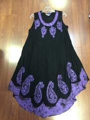 ISLAND DRESS SHORT BLACK/PURPLE UMBRELLA OSFM