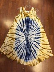 ISLAND DRESS SHORT BLUE/BEIGE UMBRELLA OSFM