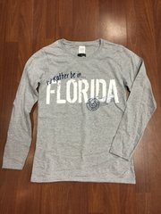 ISLAND TEE GREY I'D RATHER BE IN FLORIDA LONG SLEEVE