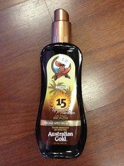 AUSTRALIAN GOLD SPRAY GEL W/BRONZER SPF 15