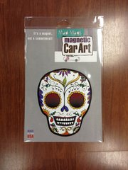 CAR MAGNET SUGAR SKULL