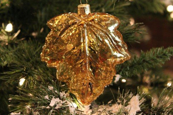 Quot mercury glass gold leaf christmas ornament browse
