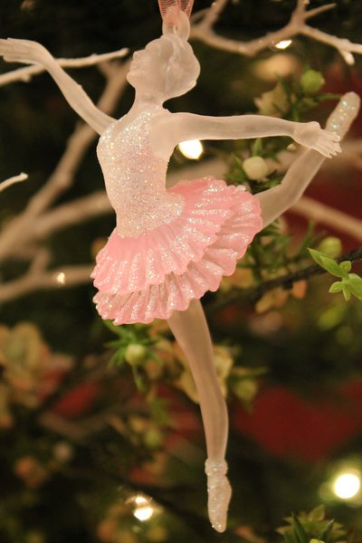 Clear pink ballerina christmas ornament browse home and for Ballet shoes christmas decoration