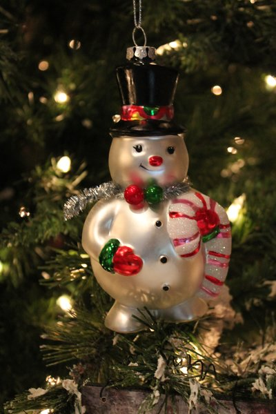 6 Quot Glass Frosted Snowman Christmas Ornament Browse Home