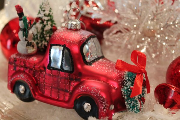 vintage truck christmas ornament | exclusively christmas offers