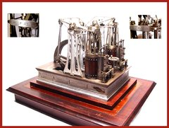 1868 H.A. Phillips Twin Walking Beam Steam Engine Model                    INQUIRE
