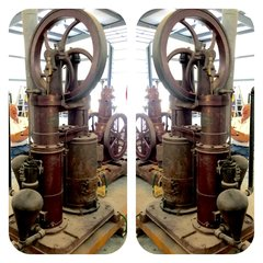 "Fine 6"" Rider Sterling Cycle Hot Air Pumping Engine"