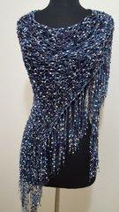 Denim shawl