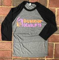 Dunkin Deadlifts Unisex Raglan