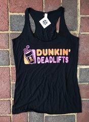 Dunkin Deadlifts Womens Tanktop