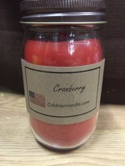 Cranberry 16 ounce jar candle