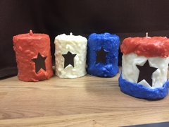 Large Cake Candles American Spirit Line