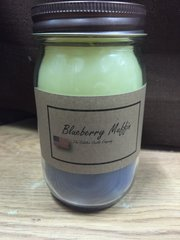 Blueberry Muffin 16 ounce jar candle