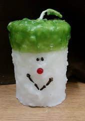 Large Elf cake candle