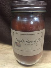 Pumpkin Harvest Pie 16 ounce jar candle