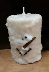 Snowman Large Cake Candle