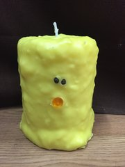 Large Chick cake candle