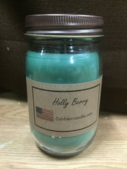 Holly Berry 16 ounce jar candle