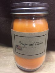 Orange and Cloves 16 ounce jar candle