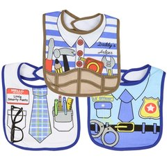Baby Boys 3-Pack Large Dress Up Bibs by Little Beginnings