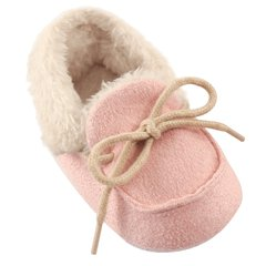 LUVABLE FRIENDS COZY MOCCASIN SLIPPERS, PINK