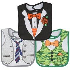 Little Beginnings Baby Boys 3-Pack Large Dress Up Bibs