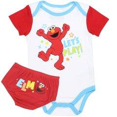 Newborn Boys 2-Piece Creeper Diaper Cover Set - ELMO
