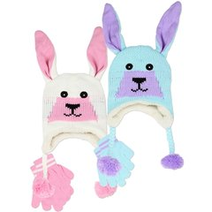 Toddler Girls Hat & Mittens Set