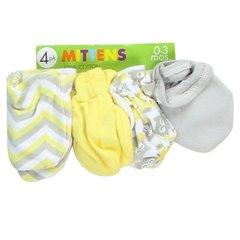 Little Beginnings 4 Pack Baby Mittens - Neutral