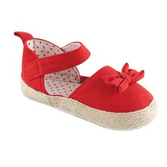 LUVABLE FRIENDS GIRLS BOW ESPADRILLE