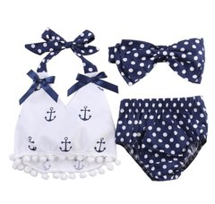 Infant Girls Anchor Top & Briefs with Headband