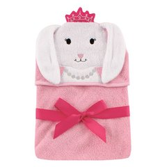Hudson Baby Animal Face Hooded Towel, Bunny
