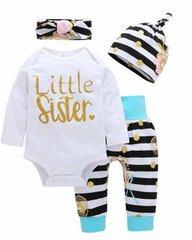 Baby Girls 3 Piece Clothing Set - BONUS HEADBAND