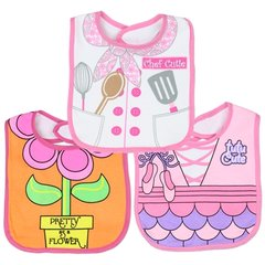 Baby Girls 3-Pack Large Dress Up Bibs