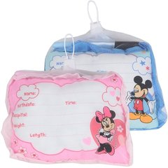 MICKEY/MINNIE BABY WELCOME PILLOW W/ MARKER