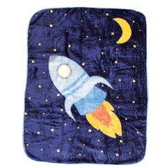 Luvable Friends High Pile Blanket, Spaceship