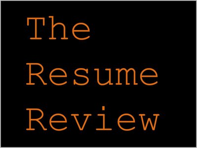 the resume review - Resume Review