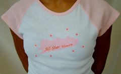CLEARANCE: ASY White Cheer SHIRT