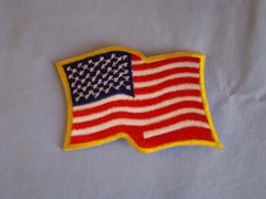 Wavy Flag Patch (Iron-on)
