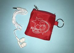 ASY Earbuds with Key Chain Zipper Pouch