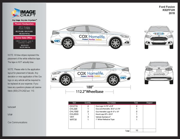 Ford Fusion 2015 - Homelife - Complete Kit