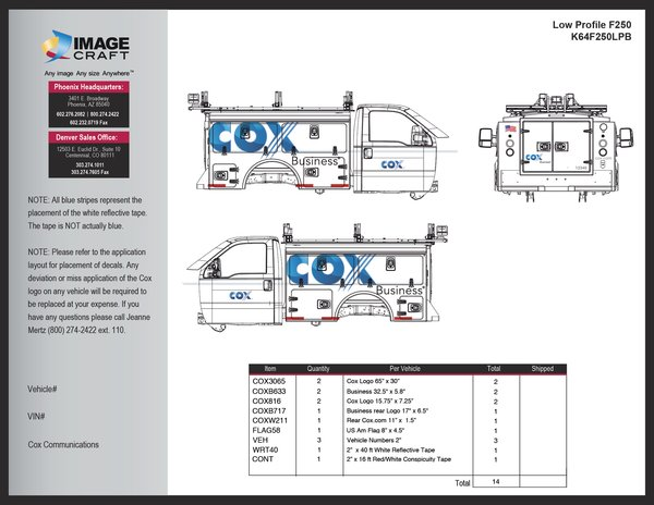 Ford F250 Low Profile - Business - A la Carte