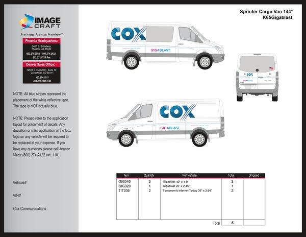 Sprinter Cargo Van - Gigablast Retrofit Kit