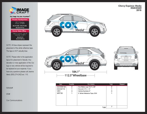 Chevy Equinox 2015 - Media - Complete Kit